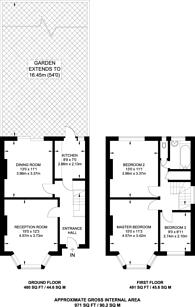 Large floorplan for Greyhound Lane, Streatham Common, SW16