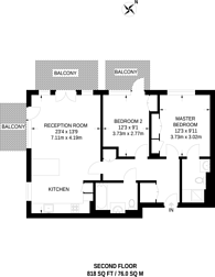 Large floorplan for Brunswick House, Hammersmith, W6