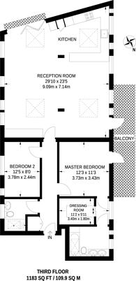 Large floorplan for Wilmot Place, Camden Town, NW1