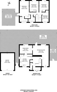 Large floorplan for Ham Ridings, Ham, TW10
