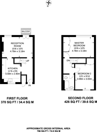 Large floorplan for Elmington Road, Camberwell, SE5