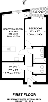 Large floorplan for Rochester Row, Westminster, SW1P