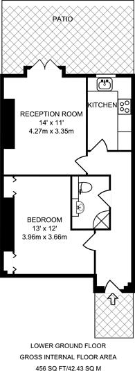 Large floorplan for Wharton Street, Islington, WC1X