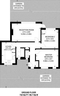 Large floorplan for Wimbourne Street, Islington, N1
