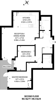 Large floorplan for Kew Bridge Road, Kew Bridge, TW8