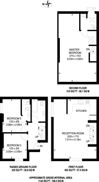Large floorplan for Regents Park Road, Finchley, N3