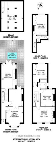 Large floorplan for Crofton Road, Camberwell, SE5