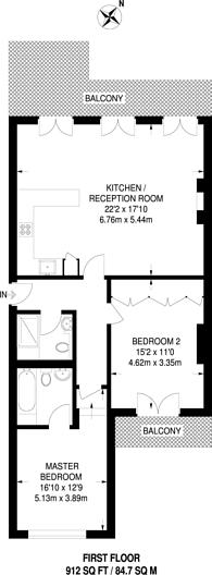 Large floorplan for Manson Place, South Kensington, SW7