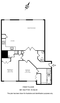 Large floorplan for Hertsmere Road, Canary Wharf, E14