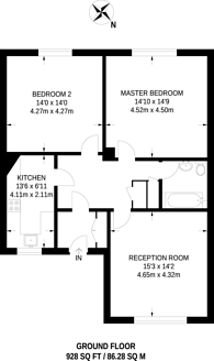 Large floorplan for Lansdowne Road, Wimbledon, SW20