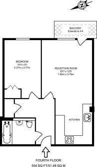Large floorplan for Ward Road, Stratford, E15