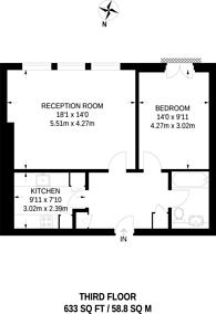 Large floorplan for Strype Street, City, E1