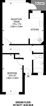 Large floorplan for Broxwood Way, St John's Wood, NW8