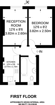 Large floorplan for Nevill Road, Stoke Newington, N16