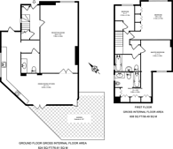Large floorplan for Dawnay Gardens, Earlsfield, SW18