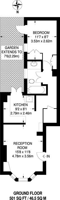 Large floorplan for Fullerton Road, The Tonsleys, SW18