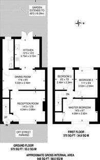 Large floorplan for Warwick Road, New Malden, KT3