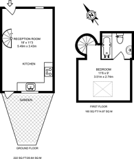 Large floorplan for Salisbury Mews, Fulham, SW6