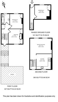 Large floorplan for Elmore Street, Islington, N1