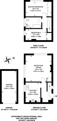 Large floorplan for Bickley Park Road, Bromley, BR1