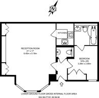 Large floorplan for Gledhow Gardens, South Kensington, SW5