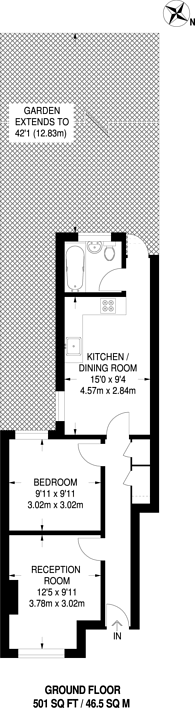 Large floorplan for Edginton Road, Streatham, SW16