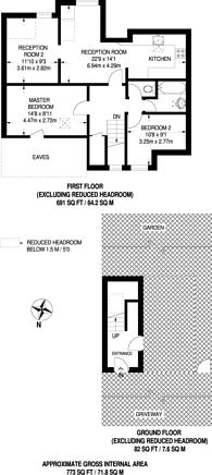 Large floorplan for Waldeck Road, West Ealing, W13