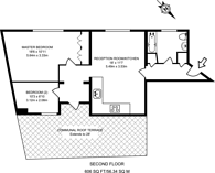 Large floorplan for Albany Court, Westminster, SW1H