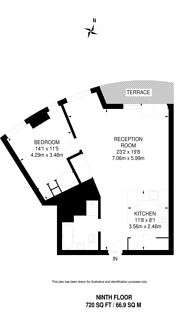 Large floorplan for The Eagle, Clerkenwell, EC1V