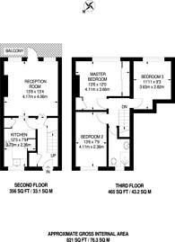 Large floorplan for Attlee Terrace, Walthamstow, E17