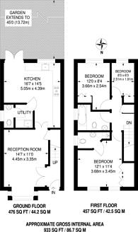 Large floorplan for Epsom Road, Guildford, GU1