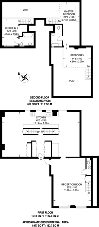 Large floorplan for Blackheath Road, Greenwich, SE10