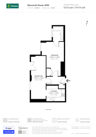 Large floorplan for Weymouth Street, Marylebone, W1W