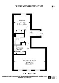 Large floorplan for Queensborough Terrace, Bayswater, W2