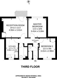 Large floorplan for Champion Hill, East Dulwich, SE5