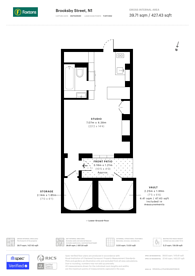 Large floorplan for Brooksby Street, Barnsbury, N1