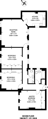 Large floorplan for Chiltern Court, Marylebone, NW1