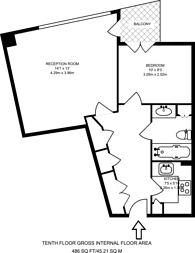 Large floorplan for New Providence, Canary Wharf, E14