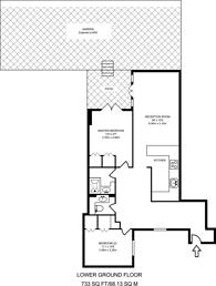 Large floorplan for Courtfield Gardens, Earls Court, SW5