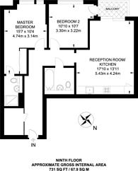 Large floorplan for Dancers Way, Deptford, SE8