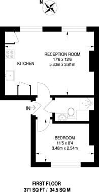 Large floorplan for Norwood Road, Herne Hill, SE24