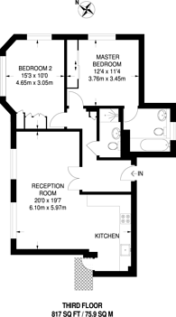 Large floorplan for Carrington House, Mayfair, W1J