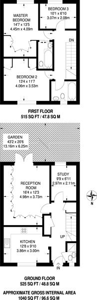Large floorplan for Shakespeare Road, Herne Hill, SE24
