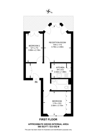 Large floorplan for Rosary Gardens, South Kensington, SW7