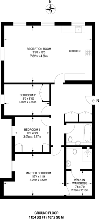Large floorplan for Kensington Green, Kensington, W8