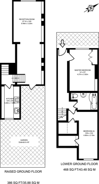 Large floorplan for Barnsbury Road, Islington, N1