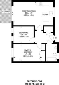 Large floorplan for Copenhagen Street, King's Cross, N1
