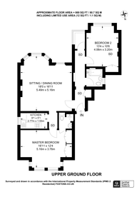 Large floorplan for Kendal Place, Putney, SW15