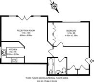 Large floorplan for Clockhouse Place, Putney, SW15