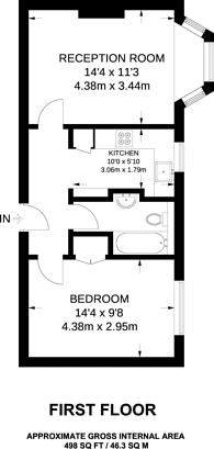 Large floorplan for Streatham High Road, Streatham Hill, SW16